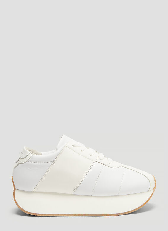 5d9cf319dea Marni Leather Platform Sneakers in White