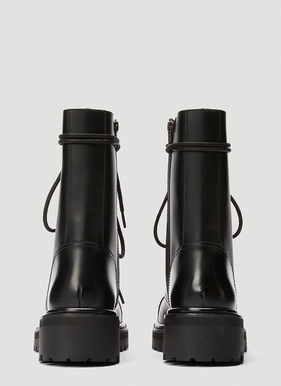 Vetements LACE-UP MILITARY BOOTS 4