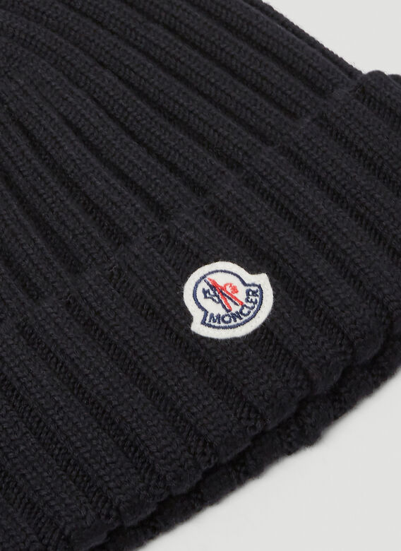 MONCLER Beanies Chunky Knit Beanie Hat in Black