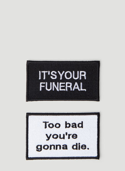 Death Cigarettes Multi A Embroidered Patch Set