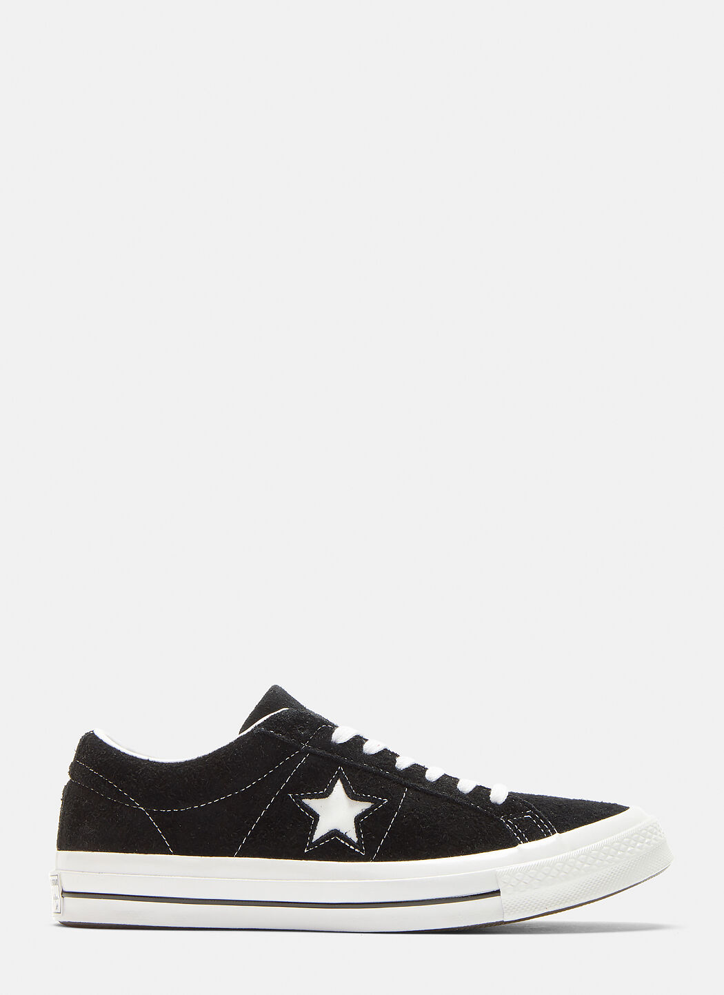 Converse One Star Suede Sneakers in Black | LN CC