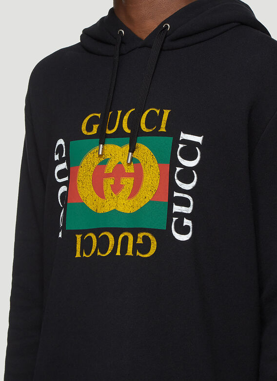 Gucci Gucci Fake Logo Hooded Sweatshirt 5