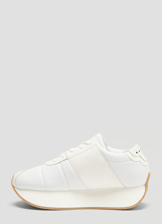 415d53b64bc Marni Leather Platform Sneakers in White