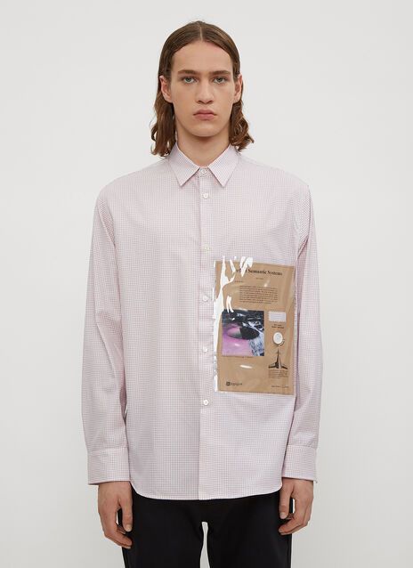 Raf Simons Checked Plastic Pocket Shirt