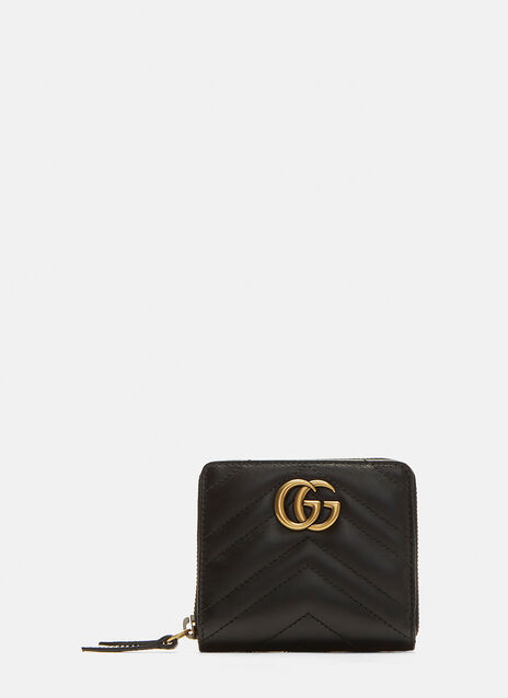 Gucci Small Marmont Zip Around Wallet
