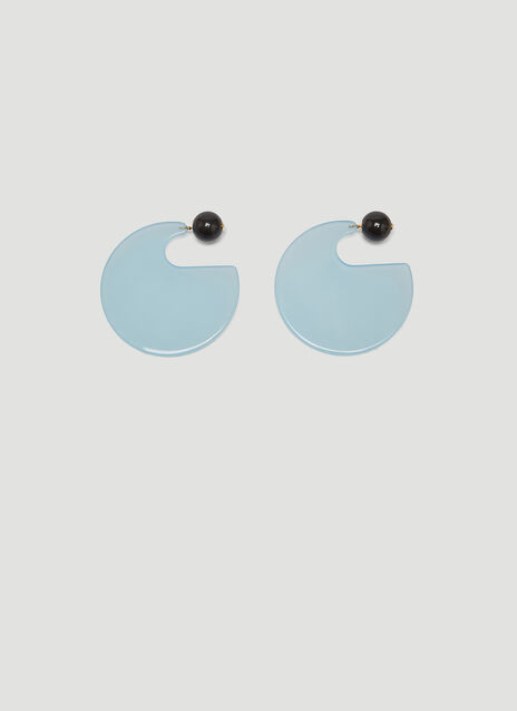 Marni Round Resin Earrings