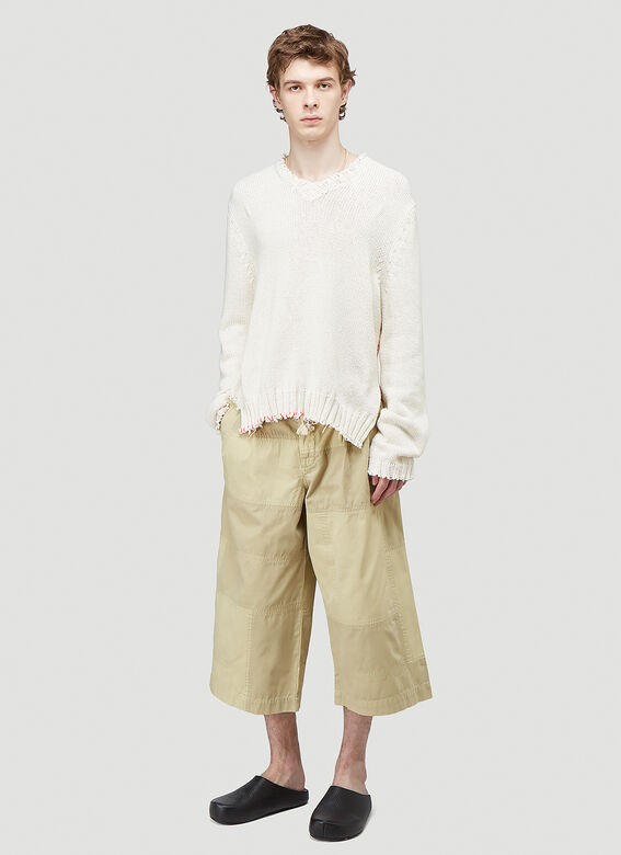 JW Anderson CROPPED TROUSERS PATCHWORK 2