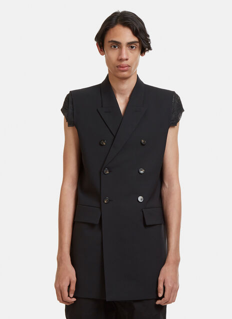 Rick Owens Sleeveless Double Breasted Jacket