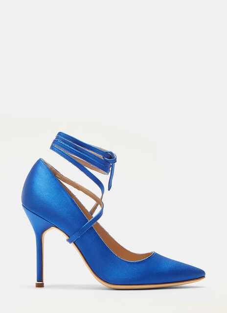 Vetements Manolo Blahnik Ankle Tie Stiletto Heeled Pumps