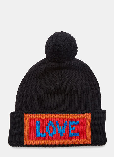 Love Logo Knit Pom-Pom Hat