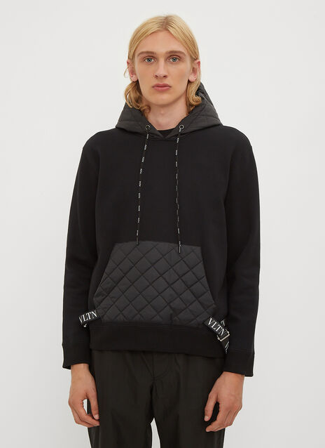 Valentino Hooded VLTN Padded Sweatshirt