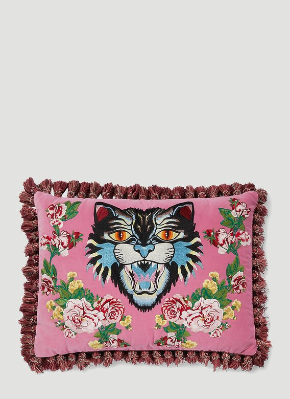 Gucci Angry Cat Velvet Cushion 1