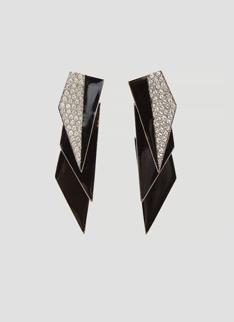Saint Laurent Smoking Geometric Earrings