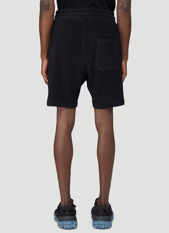 """032C """"Topos"""" Shaved Terry Shorts Black 100% CO 4"""