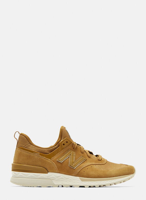 New Balance 574 Suede Sneakers in Beige  bf5795ab08