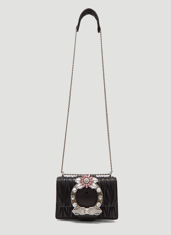 d60b2591f70 Miu Miu Miu Lady Matelassé Patina Shoulder Bag in Black