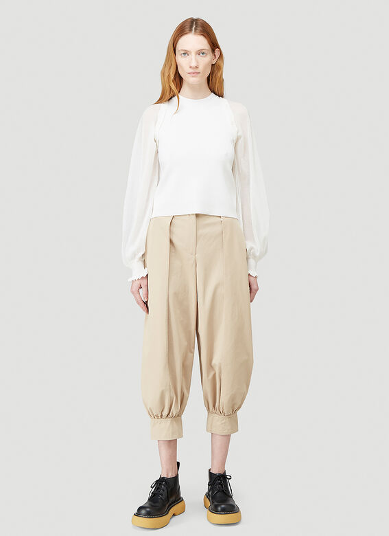 JW Anderson DETACHABLE SHEER SLEEVE FITTED TOP 2