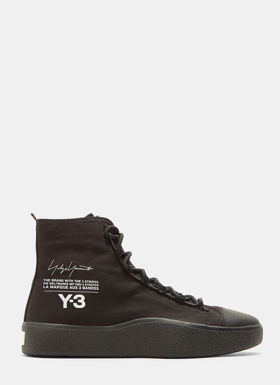 4252afd5f Y-3. Bashyo High-Top Sneakers in Black