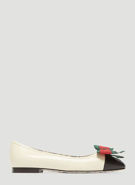Gucci Web Bow Ballet Shoes