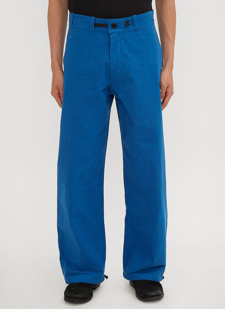MAN-TLE Wide-Leg Cinched Pants