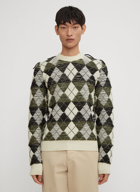 JW Anderson Structured Argyle Sweater