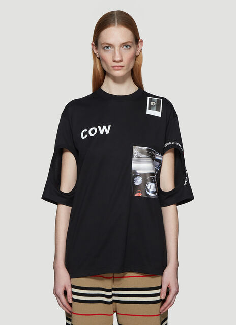 Burberry Cut-Out Graphic T-Shirt