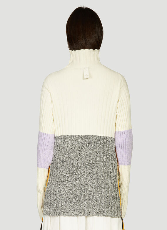 2 Moncler 1952 Contrast-Panel Knitted Sweater 4