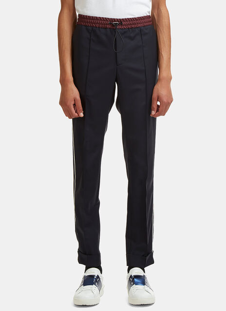 Piped Seam Suiting Track Pants