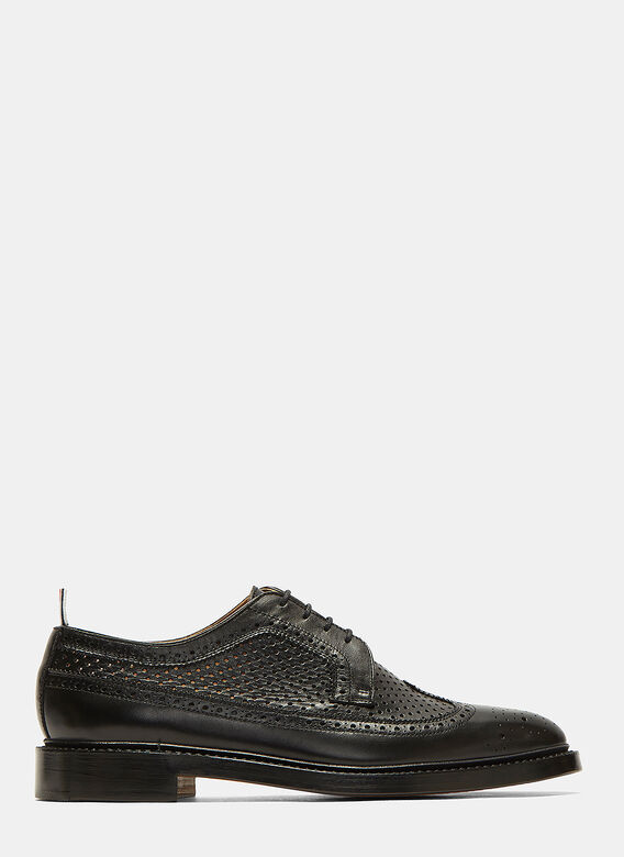 Thom Browne Longwing Perforated Brogue Shoes