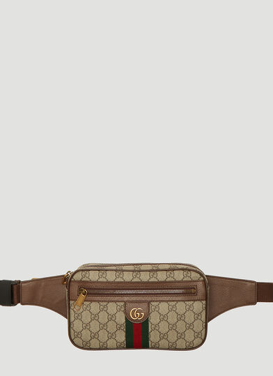 구찌 오피디아 GG 벨트백 Gucci Ophidia GG Logo Belt Bag in Beige