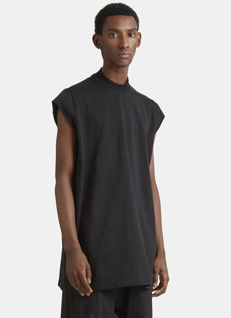 Rick Owens Sleeveless Cotton Lupetto Sweatshirt