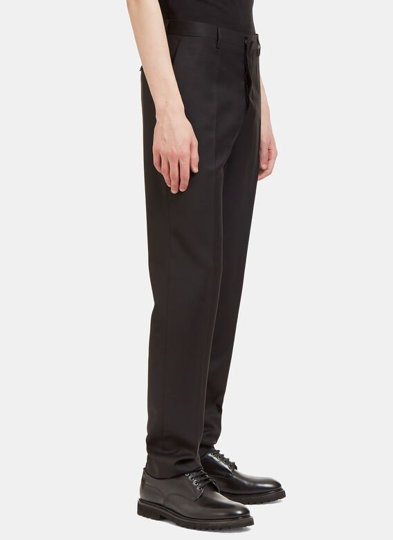 Aiezen I Virgin Wool Slim Leg Tailored Pants