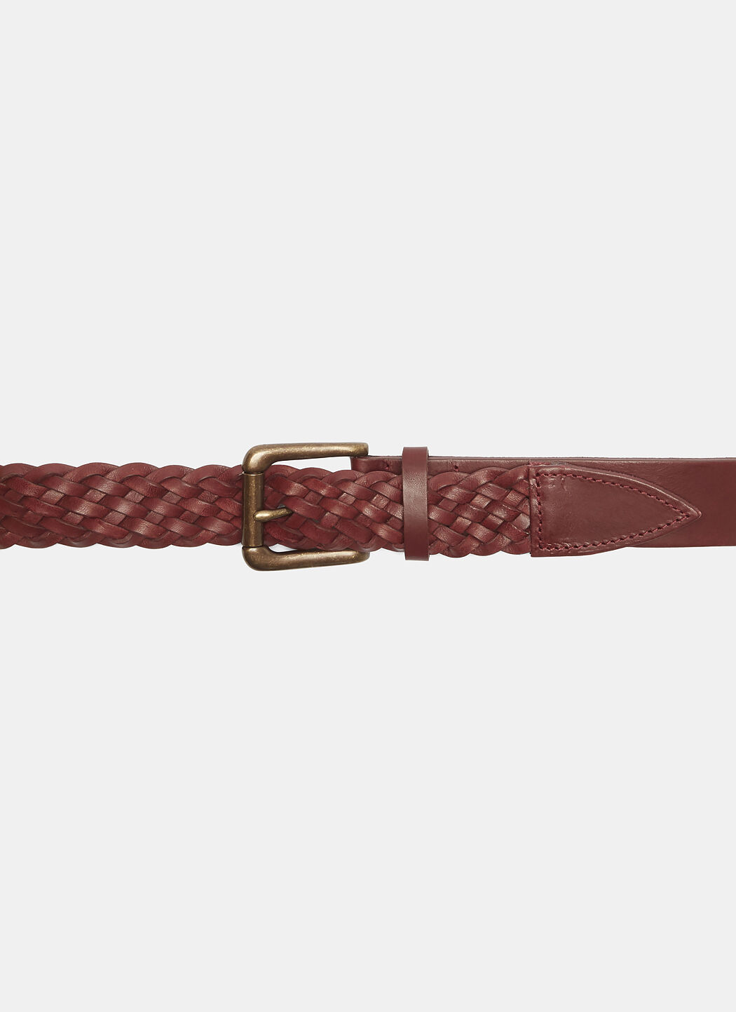 Martine Rose  CLASSIC WOVEN LEATHER BELT IN RED
