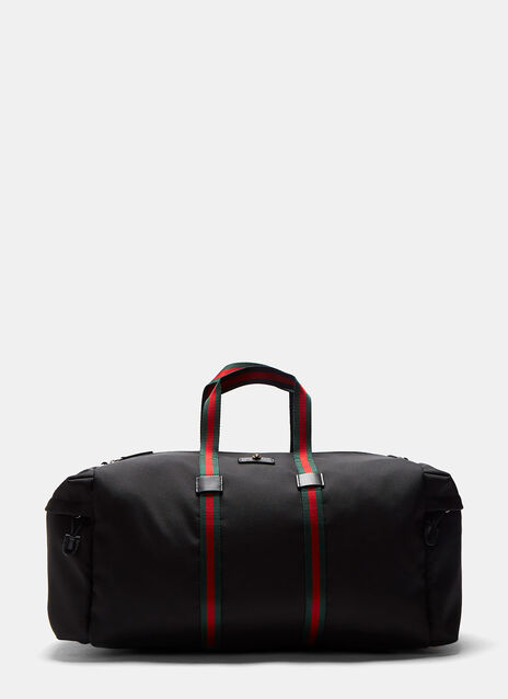 Gucci Techpack Canvas Striped Webbing Duffle Bag