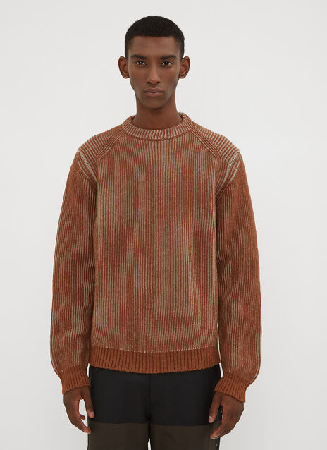 Lanvin Two Tone Ribbed Sweater