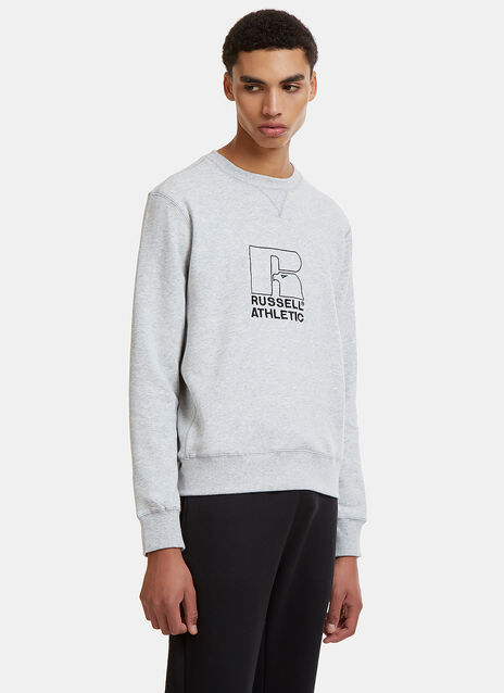 Russell Athletic Embroidered Logo Crew Neck Sweater