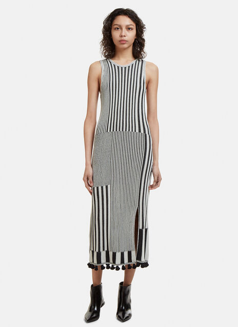 Altuzarra Lutetia Pom-Pom Trim Dress