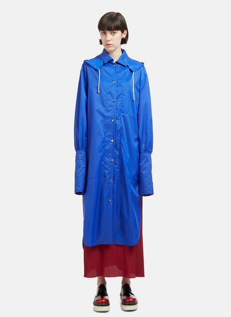 Marni Hooded Tailored Shirt Cuff Rain Coat