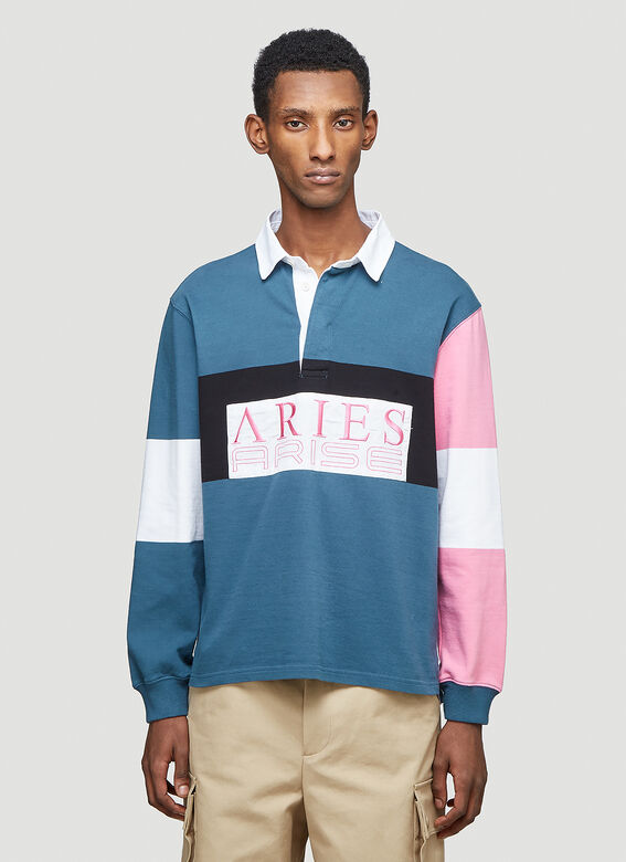 Aries Colour-Blocked Rugby Shirt 1