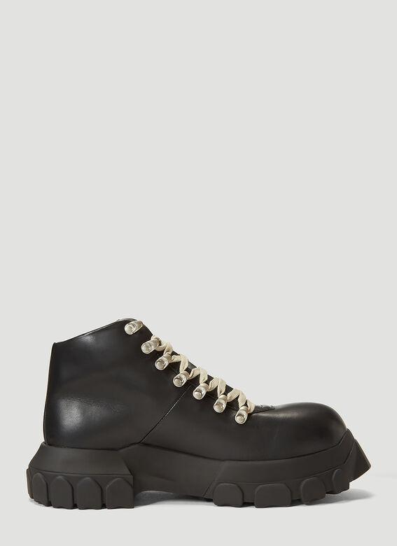Rick Owens Mega Bozo Tractor Hiking Boots in Black