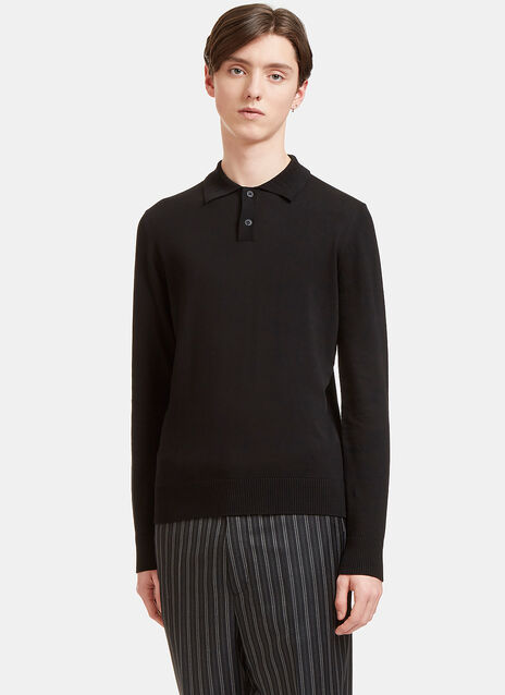 Palm Long Sleeved Polo Sweater