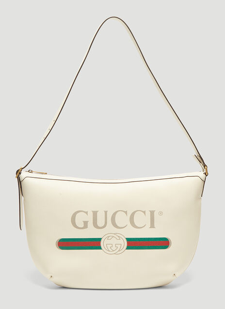 Gucci Gucci Print Half-Moon Messenger Bag