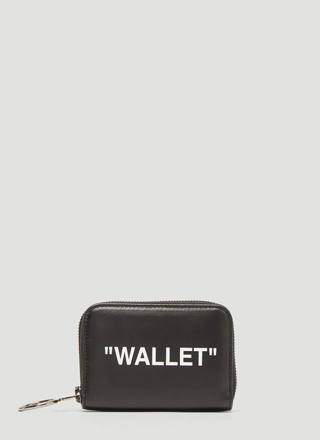 Off-White Slogan Zip-Around Wallet