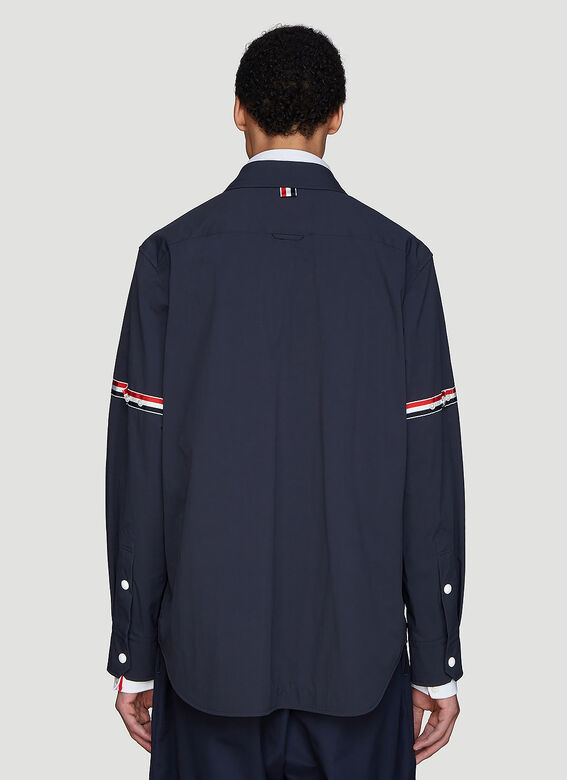 Thom Browne Snap Front Over-Shirt Jacket 4