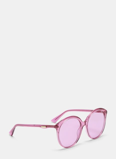 Gucci Specialised Fit Round Frame Sunglasses