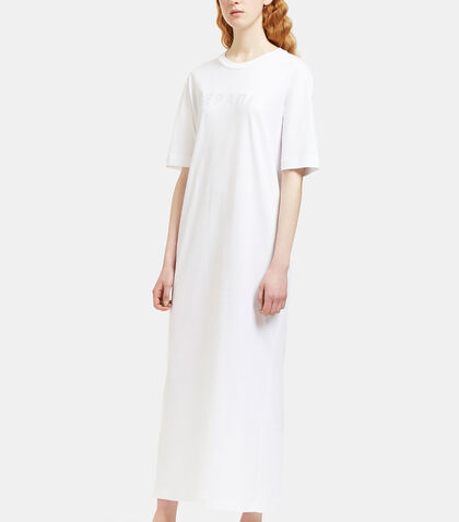 Long Embroidered Logo T-Shirt Dress