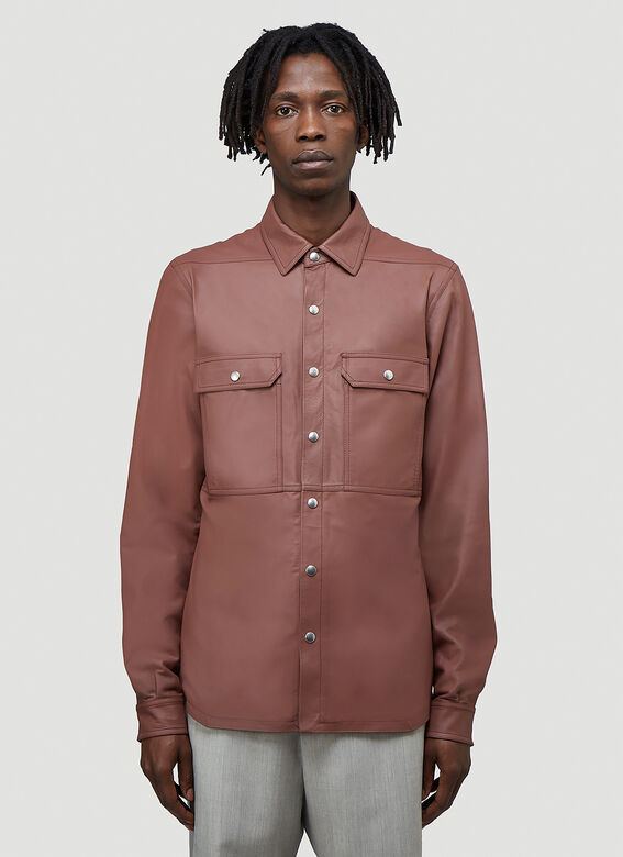 Rick Owens OUTER SHIRT LEATHER 1