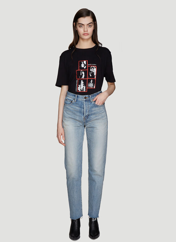 Saint Laurent Slim-Fit Bandana Jeans