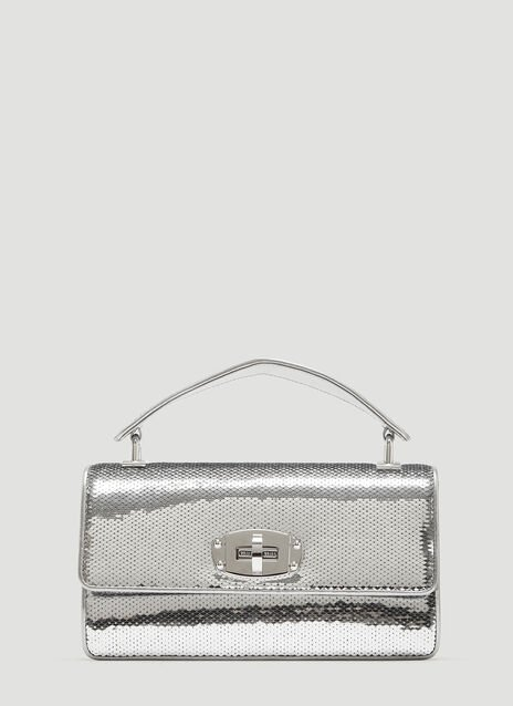 Miu Miu Cleo Sequined Leather Shoulder Bag
