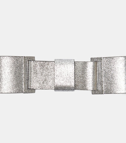 Wide Metallic Waist Belt